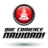 阙comience la navidad -让圣诞节开始间距 免版税库存照片