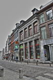 阜街道在比利时 免版税库存照片