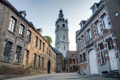 阜钟楼在比利时。 库存图片