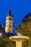 阜钟楼在比利时 库存图片