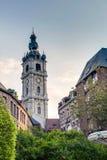 阜钟楼在比利时 免版税库存照片