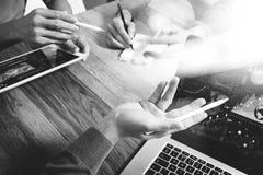 队业务会议介绍 手商人工作新 免版税库存照片