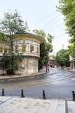 队伍报亭是一个历史大厦,伊斯坦布尔 库存照片
