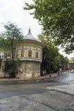 队伍报亭是16世纪历史大厦 库存照片