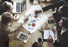 队会议分析概念的激发灵感计划 免版税图库摄影