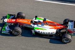 队力量印度F1,尼科Hülkenberg, 2012年 库存图片