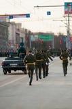 仪仗队在一次军事游行的 图库摄影