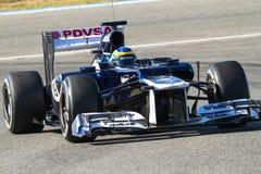队威廉斯F1,布鲁诺・塞纳, 2012年 库存照片