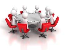 队小组3d人业务会议  免版税库存照片