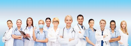 队或小组医生和护士 免版税库存照片
