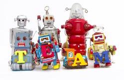 队机器人 免版税库存照片