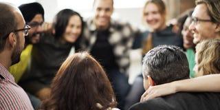 队杂乱的一团和谐统一性幸福概念 免版税库存照片
