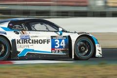 队汽车汇集Motorsport audi lms r8 24个小时巴塞罗那 图库摄影