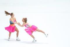 队激情两溜冰者 免版税库存照片