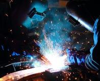 队焊工 免版税图库摄影