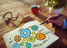 队配合目标战略视觉企业支持概念 库存照片