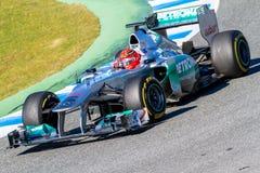 队默西迪丝F1,迈克尔・舒马赫, 2012年 免版税库存照片