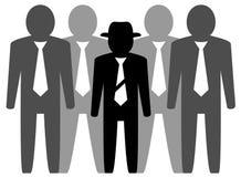 队businessmans和领导 免版税图库摄影