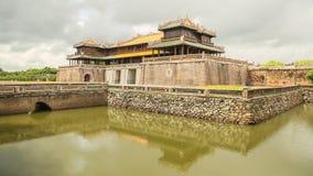 阮朝皇家王宫颜色的,越南 免版税图库摄影