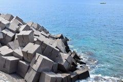 防堤在大加那利岛 免版税库存照片