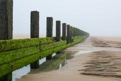 防堤在海洋 免版税库存图片