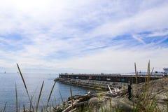 防堤,维多利亚, BC 库存照片