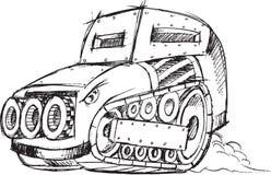 防弹车车剪影 图库摄影