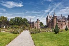 防御位于Haarzuilens的德哈尔,荷兰 库存图片