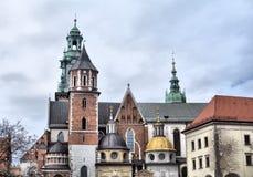防御历史记录克拉科夫中世纪纪念波兰wawel 库存照片