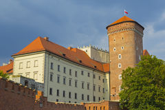 防御历史记录克拉科夫中世纪纪念波兰wawel 免版税库存图片