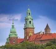 防御历史记录克拉科夫中世纪纪念波兰wawel 免版税库存照片
