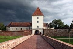 防御在Sà ¡ rvà ¡ r (Sarvar),匈牙利 库存图片