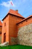 防御在Trakai的湖Galve,立陶宛 免版税库存照片
