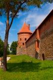 防御在Trakai的湖Galve,立陶宛 库存图片