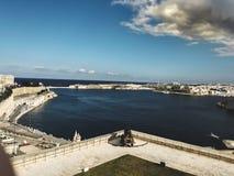 防御堡垒在瓦莱塔 免版税库存照片