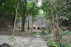 防御堡垒的墙壁的片段 图库摄影