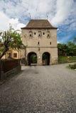 防御塔在Sighisoara 免版税库存图片