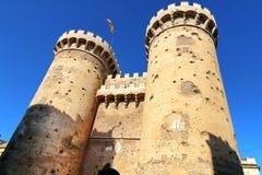 防御塔巴伦西亚 免版税库存图片