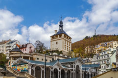 防御塔,卡洛维变化,捷克共和国 免版税库存图片