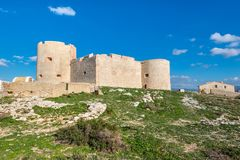 防御大别墅d `,如果在马赛,法国附近 免版税库存照片
