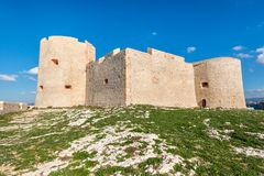 防御大别墅d `,如果在马赛,法国附近 免版税图库摄影
