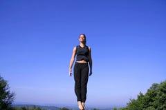 防御实践的自妇女 免版税库存照片