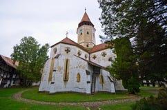 防御教会在Prejmer,罗马尼亚 免版税库存图片