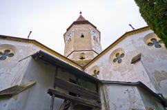 防御教会在Prejmer,罗马尼亚 图库摄影