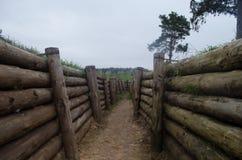 防御斯大林线系统 免版税库存照片