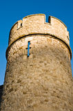 防御有历史的诺曼底塔 免版税库存图片