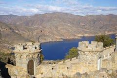防御电池` Castillitos `在卡塔赫钠,穆尔西亚,西班牙 免版税库存图片