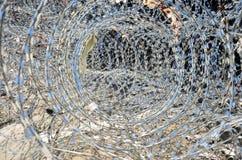 防御的铁丝网在曼谷泰国 库存图片