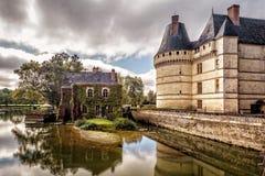 防御chateau de l ` Islette,法国 免版税库存照片