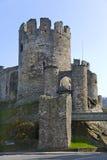 防御conwy威尔士 免版税库存照片